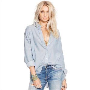 RALPH LAUREN Denim Buttoned-Down Long Sleeve Shirt